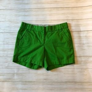 Chino J Crew shorts, green sz 4